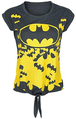 Batman Logo Maglia donna grigio sport M