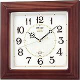 SEIKO チャイム&ストライク 電波クロック「ツイン・パ」 掛時計 RX208B