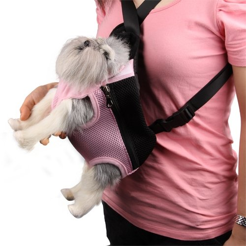 ToJoy Cat Dog Travel Front Carrier Bag Backpack, Small Net Bag for Pet