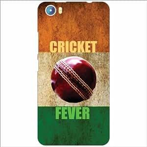 Micromax Canvas Fire 4 A107 Back Cover - Silicon Cricket Fever Designer Cases