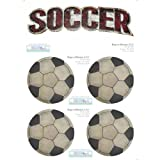 Soccer Ball Decal Stickers Boys Sport Theme Boy Wall Graphics Removable Vinyl Mural Sticker Decals Childrens Nursery Baby Room Decor Kids Bedroom Walls Decorations Balls Sports Childs Murals Girls Art