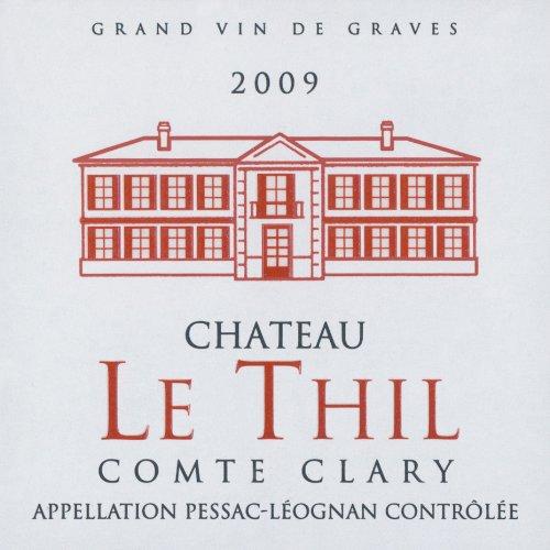 2009 Chateau Le Thil Comte Clary Rouge Pessac Leognan Bordeaux Red Blend 750 Ml