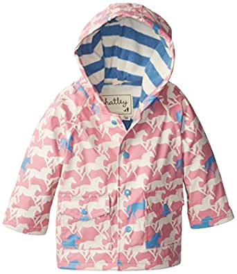 Amazon.com: Hatley Baby Girls' Raincoat Show Horses, Pink