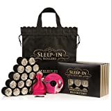 Sleep in Rollers Black & Gold Glitter Rollers Gift Set Including Durable Carrier