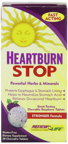 Renew Life Heartburn stop Tablets, 30 Count