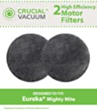 2 Eureka Mighty Mite Motor Filters, Fits Eureka Mighty Mite and Sanitaire Models 3600 Series, Replaces Eureka Part# 38333, Designed and Engineered by Crucial Vacuum