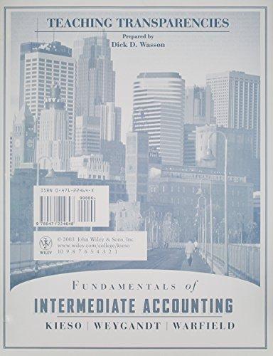 Fundamentals of Intermediate Accounting, Teaching Transparencies