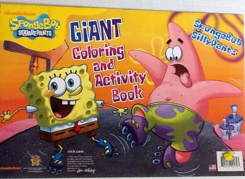 "Nickelodeon SpongeBob Squarepants - SpongeBob SillyPants! Oversized Giant Coloring & Activity Book! Games! Mazes! Puzzles! 16"" X 11"" 24 Bordered Pages! - 1"