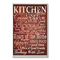 Stupell Home Decor Collection Words in the Kitchen Wall Plaque, Off Red