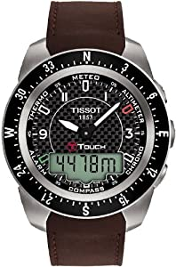 Tissot Men's T0134204620700 T-Touch Expert Black Carbon Fiber Dial Watch