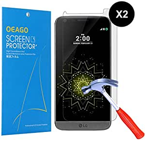 [2-PACK] [Tempered Glass] OEAGO LG G5 Tempered Glass Screen Protector
