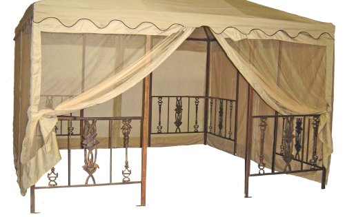 Parkland Heritage DC America GOS1212-BB 11-Foot 6-Inch by 11-Foot 6-Inch Gazebo Screen, Polyester, Beige with Beige Trim