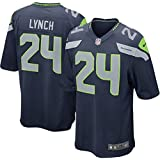 Youth Seattle Seahawks Marshawn Lynch Nike College Navy Team Color Game Jersey