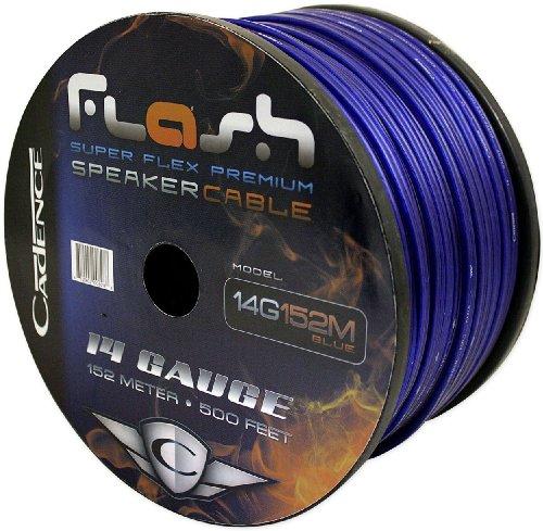 Cadence 14g152m-blue 14 Gauge 150 Foot Blue Speaker Wire Spool (Cut From a 500 Foot Spool)