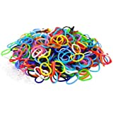 Xixi-1800 Rainbow Colours Loom Bands & 75 Clips