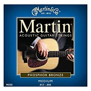 Martin 92/8 Acoustic Guitar Strings  - Phosphor Bronze Wound (Medium, .013 - .056)