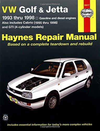 Vw Golf & Jetta, 1993 - 1998 (Haynes Manuals)