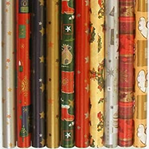 5 x Weihnachtsgeschenkpapier 200 x 70 cm (2620)