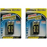Skywok 2 Packs Of 4 Pieces 2500mah AA 1.2V, Rechargeable Ni-Mh Batteries 2500 MAh AA Size
