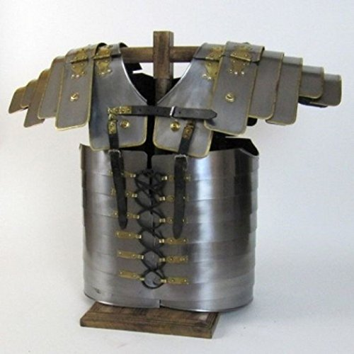 Roman Segmentata Lorica Breastplate Steel w/ Brass Trim: Wearable Costume A...