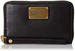 Marc by Marc Jacobs Classic Q Wingman Wallet, Black, One Size