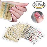 RUIMIO Nail Stickers Decals 3D Christmas Nail Art Designs 30 Sheet