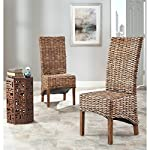 Safavieh Home Collection Isla Brown Dining Chair (Set of 2)