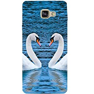 Casotec Pure Swan Design Hard Back Case Cover for Samsung Galaxy A7 (2016)