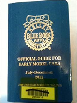 kelley blue book official guide for early model cars july december 2011 1946 1990 car. Black Bedroom Furniture Sets. Home Design Ideas