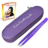 ✔ Best Professional eyebrow slant tweezers. ✔ FREE BEAUTY TIPS eBOOK ✔ FREE HIGH QUALITY AND STYLE zipper pouch.