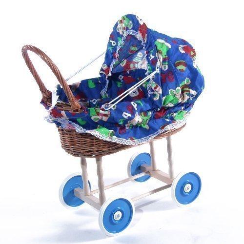 Weidenwagen Puppenwagen Weide Kinderwagen Korbwagen
