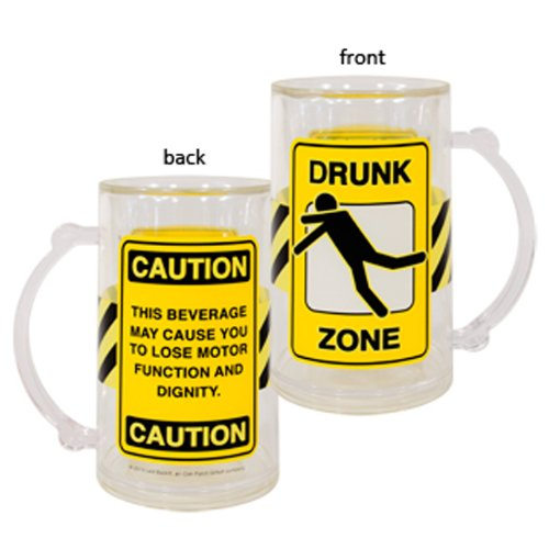 Laid Back CS13050 Drunk Zone Acrylic Tankard, 14-Ounce