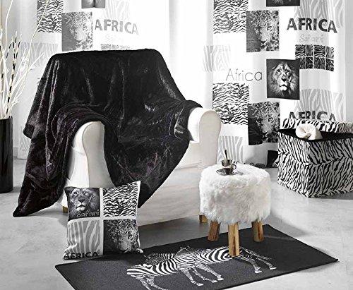 Douceur D'Interieur - Manta (130 x 160 cm, 100% poliéster, pelo sintético de animal), color blanco