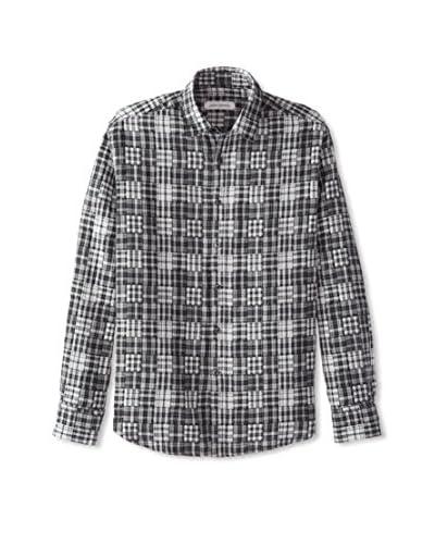 James Campbell Men's Long Sleeve Hearne Print Shirt