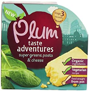 Plum Baby Organic 10 Plus Months Super Greens Pasta and Cheese (Pack of 5)