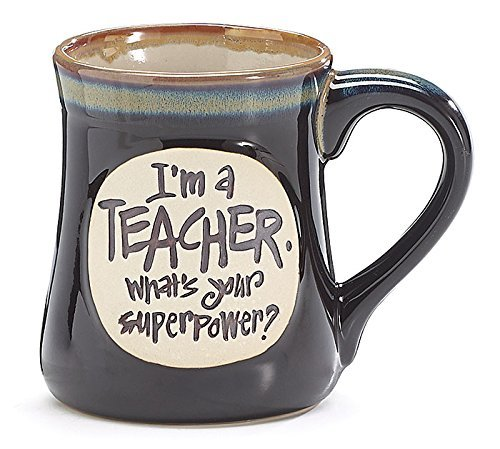 1 X I'm a Teacher Superpower Deep Black 18 Oz Mug