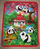 Pillow Pets Comfy Panda Fleece Throw Blanket