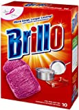 Brillo Steel Wool Soap Pads Red, 10 Count