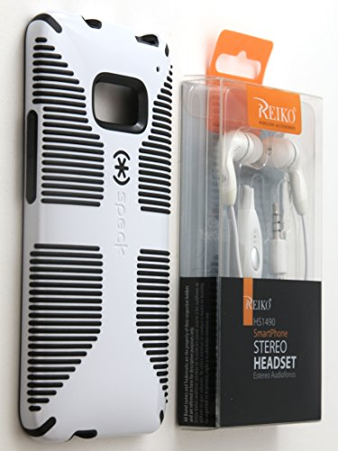 Speck Candyshell Grip Case For Htc One M7 Spk-A1975 With Bonus Stereo Headphone Headset Combo (By Healthy Spending) (White)