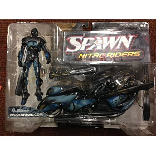 SPAWN MTCC한정  스폰  Nitro 라이더스 플래쉬 포인트(실버ver.)/McFARLANE TOYS COLLECTOR'S CLUB Exclusive SPAWN NITRORIDERS FLASH POINT (Silver)
