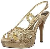 Carlton London Women's Lynn Gold Fashion Sandals - 8 UK (CLL-3160)