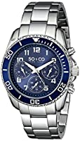 "SO&CO New York Men's 5029.2 ""Yacht Club"" Stainless Steel Watch with Link Bracelet from SO&CO MFG"