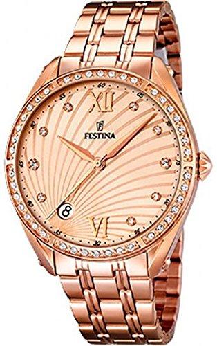 Festina de mujer reloj de pulsera clásico Mademoiselle analógico de cuarzo Acero inoxidable f16896/2