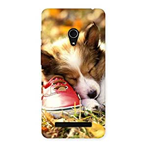 Cute Sleeping Puppy Back Case Cover for Zenfone 5