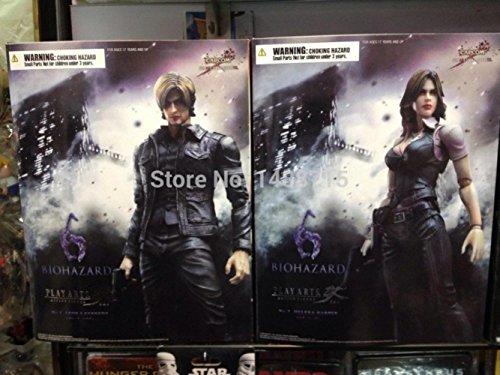 [2pcs Square Enix Resident Evil 6 Leon S. Kennedy + Helena Harper Play Arts Kai 22CM/8.7