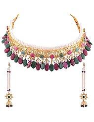Smart Deal Royal Nizam Shahi Guluband Real Ruby And Emerald Star 888 White Stone