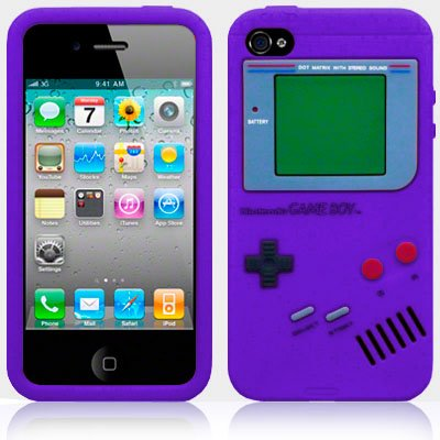 gadget geek - aio ?tui silicone gameboy housse coque pour apple iphone
