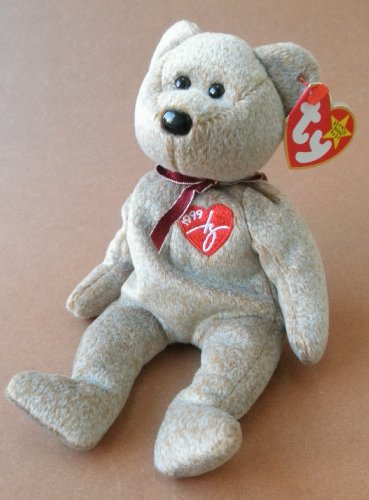 1 X TY Beanie Babies 1999 Signature Bear Plush Toy Stuffed Animal