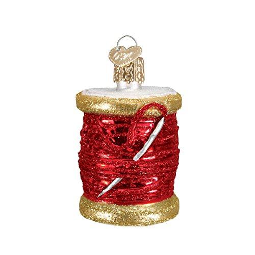 Old World Christmas Spool Of Thread Glass Blown Ornament