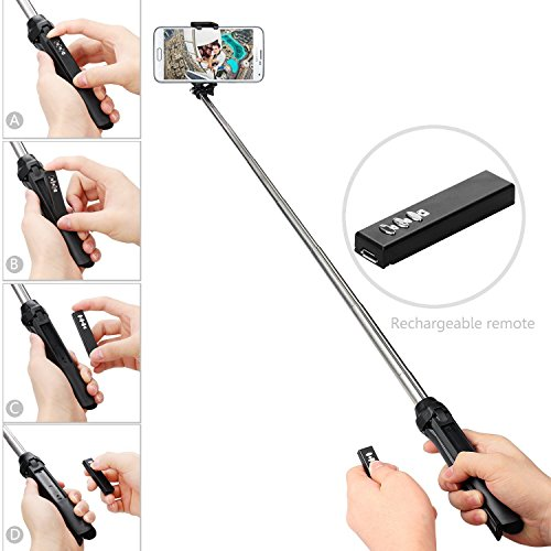 gepro x snap handheld tripod 2 1 self portrait monopod extendable selfie stick with built in. Black Bedroom Furniture Sets. Home Design Ideas